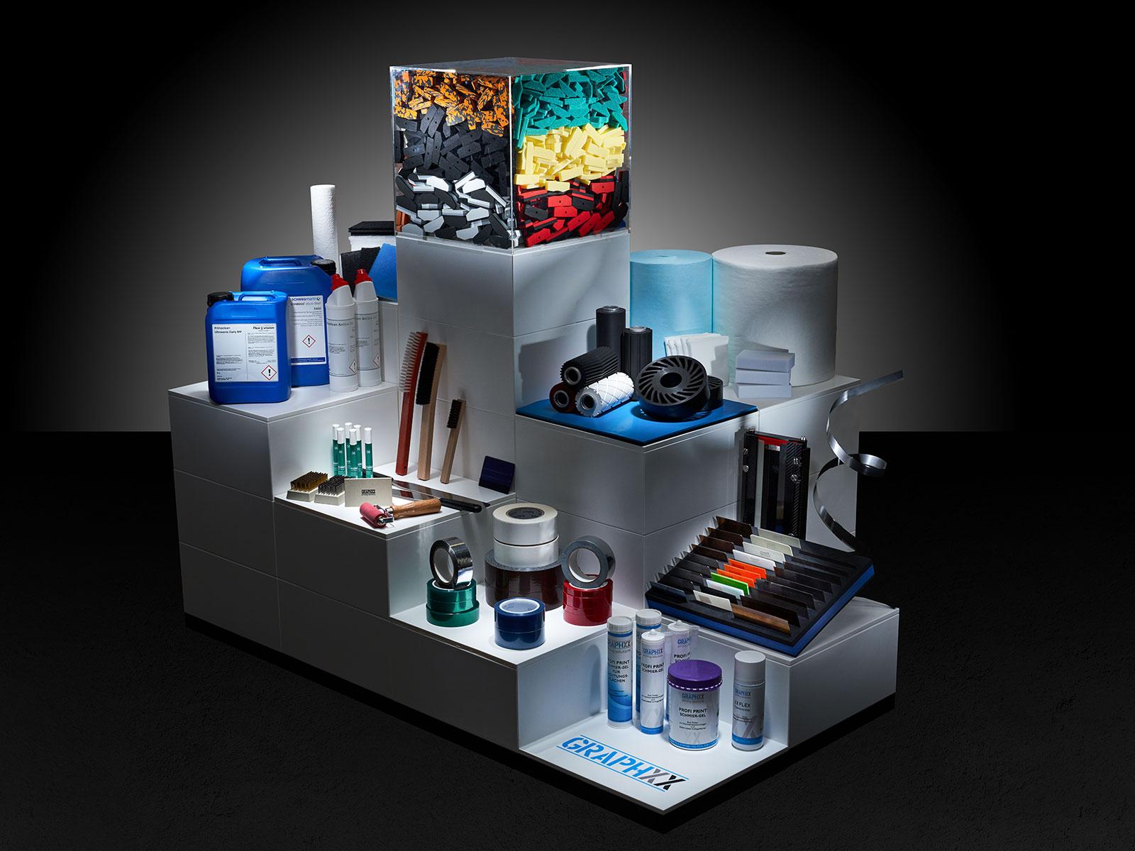 Kammerrakeldichtungen, Drucktücher, Reiniger und Zubehör für den Drucksaal